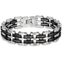 Troli Pánský ocelový náramek ocelovo-černý KBS-014