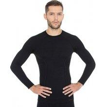 Brubeck Active Wool Mens Long Sleeve LS12820 Black pánské triko dl.rukáv