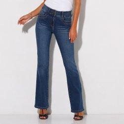 Blancheporte Strečové bootcut džíny v opraném vzhledu modrá od 949 ... 06cb00a157