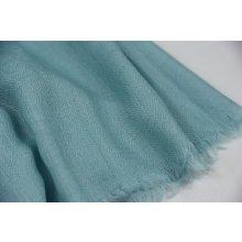 Luxusní vlněná pašmína modrá aqua