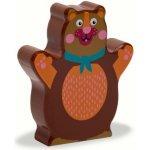 O-OOPS Easy-Sound Dřevěné chrastítko Bear Chocolat au Lait