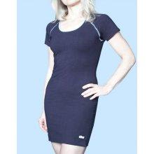 8bd3a061c7ff GINA Šaty krátký rukáv barevné prošití 91002 LGMDCM Ocelová lékořice