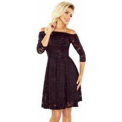 2d532a74e056 Numoco dámské krajkové šaty Carmen černá od 1 099 Kč - Heureka.cz