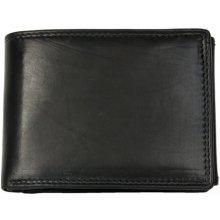 Velmi kvalitní černá kožená peněženka HMT