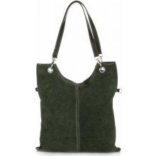 kožené kabelky Tmavě zelená