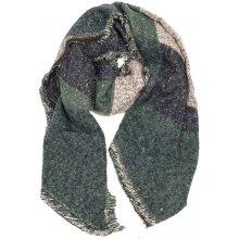 Nugatu Šála dámská oboustranná zelená f46adfdd7a