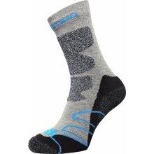 Salomon ALOMON Turistické ponožky šedá/černá/modrá