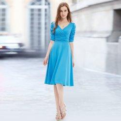 6119c01c595b Plesové šaty Krátké společenské šaty na svatbu modrá