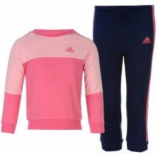 Adidas 3 Stripe Jogger Babies Tracksuit Pink NightSky