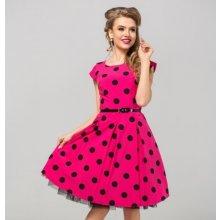 2478ecfe7912 Gotta šaty Marie s puntíky GS02 tmavě růžová