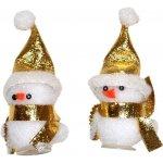 Dekorace vánoční - sněhulák zlatý 2 ks