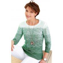 Collection L. pulovr zelená bílá
