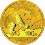 Panda 2016 Zlatá mince 8 g
