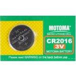Baterie MOTOMA CR2016 5ks