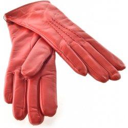 a91cc9b93ea Bohemia červené kožené dámské rukavice s trojitou vlnkou od 990 Kč ...