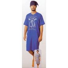 5a6305ecd37f Calvi 606 Slon pánská noční košile kr.rukáv s čepičkou modrá