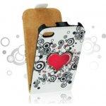 Pouzdro Forcell Slim Flip Case 2 Nokia 520 Lumia Srdce