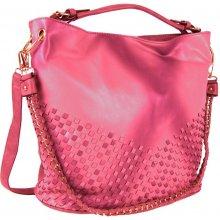 Tapple Unikátní kombinovaná kabelka 3091 růžovo-červená