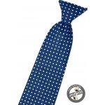 Avantgard Modrá dětská kravata s bílými puntíky 558-5101-0 ddfa55648e