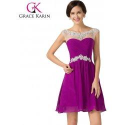 Grace Karin koktejlové společenské šaty CL7536-2 Fialová alternativy ... b6e2436e76