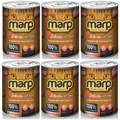 Marp Pure Salmon CAT Can Food 6 x 370 g
