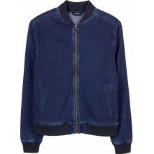 LIVERGY pánská džínová bunda navy modrá opraný vzhled ac764b70b3