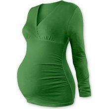 těhotenské triko /tunika dlouhý rukáv Eva sv. zelené