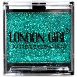 LONDON GIRL Flitrové oční stíny Mono Zelené GLITTER Eyeshadow 14 4,5 g
