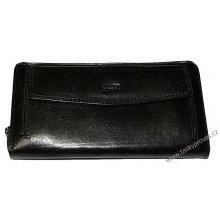 Cosset Dámská kožená luxusní peněženka 4491 Flamengo černá c3839331e8