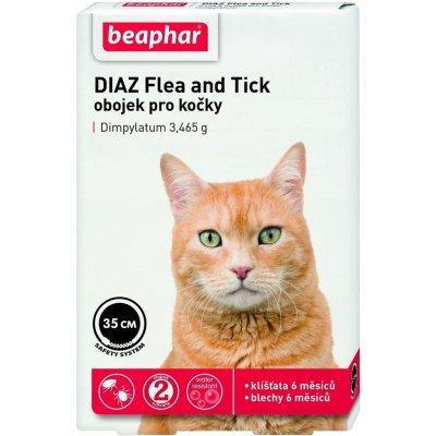 Beaphar DIAZ antiparazitní obojek pro kočky 35 cm