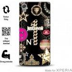 Pouzdro JUST CAVALLI Leo Star Cover MFX Sony Xperia XA černé