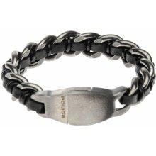 Police Shock Bracelet Silver Black 669285