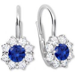 Brilio Silver náušnice s krystaly 436 001 00322 04 modré od 899 Kč -  Heureka.cz 46b092b6d8c