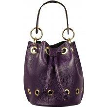 Leontina Viola - krásná italská kožená kabelka 8d9d785bc71