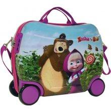 JOUMMABAGS Dětský kufřík na kolečkách Máša a Medvěd 25 l