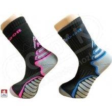 Outdoorové funkční ponožky KS 11761 černo-růžové