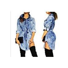 e1d09c3fca25 Fashionweek dámské košilové džínové šaty s páskem FA02 136