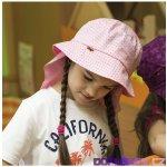 e1da5a5772b Hugo dětský bavlněný klobouk s rovnou hlavou a plachtičkou proti slunci  dětské čepičky 30133480 šedá