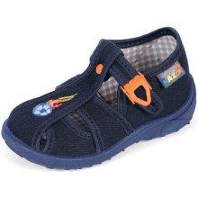 Nazo 024 tmavě modré bačkory dětské letní boty i přezůvky do škol ky 1fa6a24dff