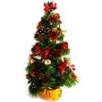 Dekorovaný stromeček červeno-zlatý