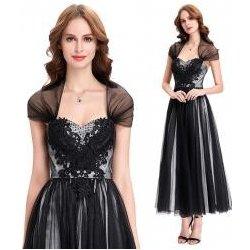 ef891eb15ab1 Večerní šaty ke kotníkům s přehozem přes ramena černé alternativy ...