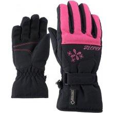 Ziener Laber Gtx junior dětské prstové rukavice black pop pink b5fc8a83d6