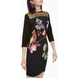 Filtrování nabídek Desigual šaty Vanity s barevným potiskem černá ... c85de0c8b9b