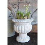 Jeanne d'Arc Living Květináč Fibercement 20 cm, béžová barva, krémová barva, beton