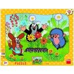 Dino Puzzle Krteček zahradník 12 dílků