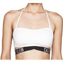 Calvin Klein Plavková podprsenka X Bandeau-RP KW0KW00154-100 White