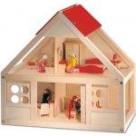 Bino Domeček pro panenky s vybavením 26 ks
