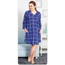 Vienetta dámské domácí šaty s tříčtvrtečním rukávem Vanda modrá 5711a68f2f