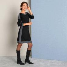 961d1a406ab Blancheporte pletené šaty s lodičkovým výstřihem černá