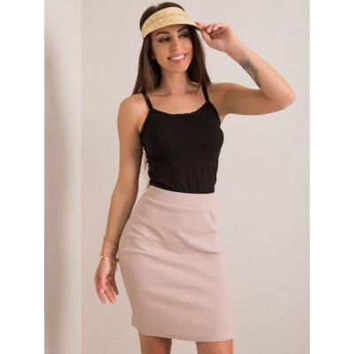 Dámská žebrovaná sukně rv-sd-4271.29p light beige